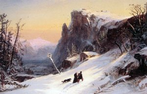 Winter in Switzerland, by Jasper Francis Cropsey (1823-1900)