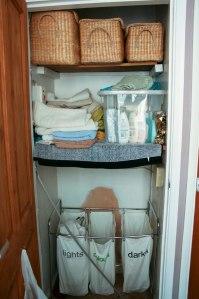 inside airing cupboard